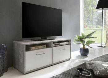 Tv-meubel Sami 2 deuren 95cm - wit/beton