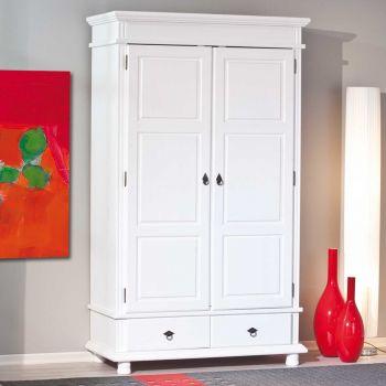 Kledingkast Danz 116cm met 2 deuren - wit