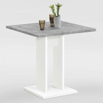 Eettafel Brandon 70x70 - wit/beton