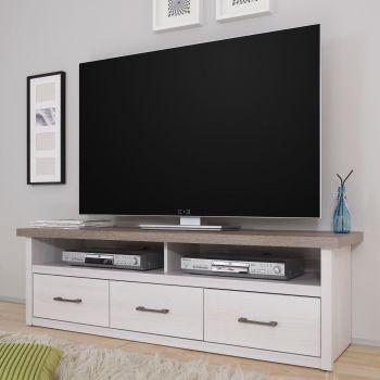 Tv-meubel Larnaca 148cm met 3 lades - wit