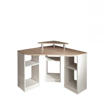 Hoekbureau Corner - eik/wit