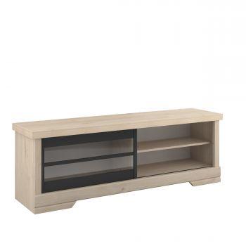 Tv-meubel Vanessa 158 cm met schuifdeur - eik
