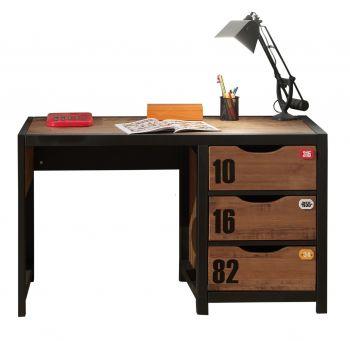 Bureau Alex bruin/zwart 130cm - stoer bureau industrieel