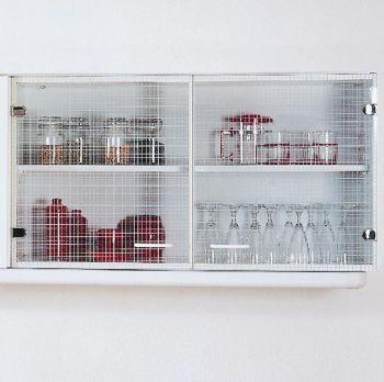 Bovenkast Bingo 100cm glasdeuren - wit