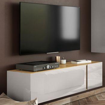 Tv-meubel Mussa 140cm - eik/kasjmier