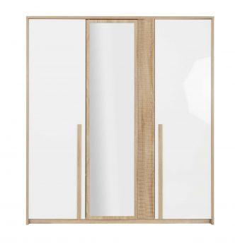 Kledingkast Alto 197cm met 3 deuren & spiegel - sonoma eik