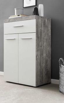 Dressoir Tristan 2 deuren & 1 lade - wit/beton