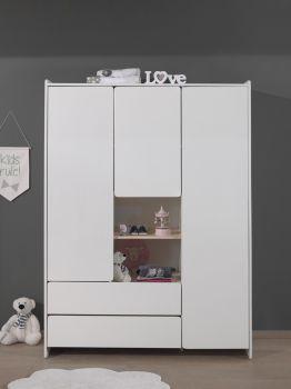Kledingkast Kiddy 3 deuren - wit