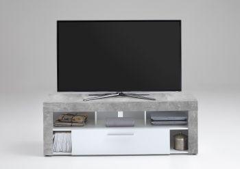 Tv-meubel Vidi 150 cm - beton/wit