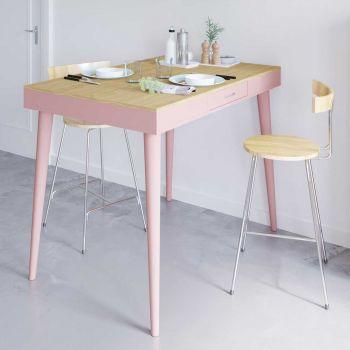Bartafel Horizon - eik/roze
