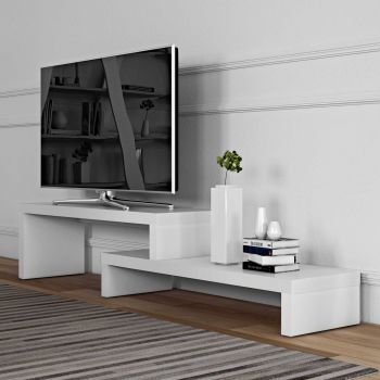 Tv-meubel Cliff 125cm - wit
