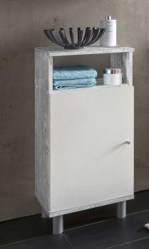 Badkamerkast Benja 1 deur - wit/beton