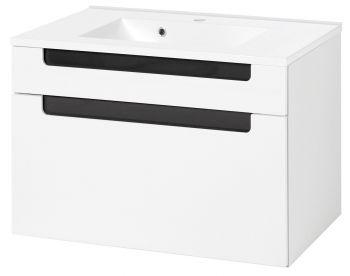 Wastafelkast Siena 80cm - wit/antraciet