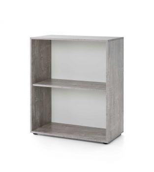 Rek Maxi-office breed - beton/wit