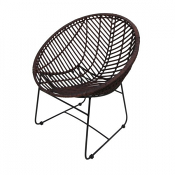 Stoel Cocon - donkerbruin rotan