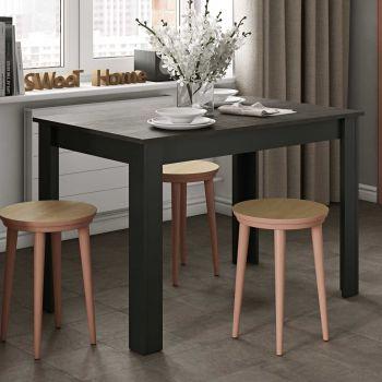 Eettafel Nice 110 cm - zwart/beton
