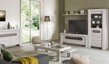 Tv-meubel Sandrine 160cm - lichte eik