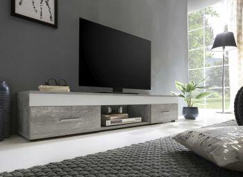 Tv-meubel Sami 2 laden 160cm - wit/beton