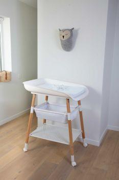 Verstelbare verzorgingstafel Evolux met aankleedkussen - wit