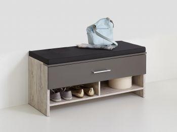 Schoenenkast met zitbank zitkussen bankje Nala 100 cm