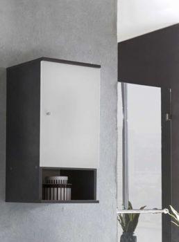 Hangkast Benja 1 deur - wit/grafietgrijs