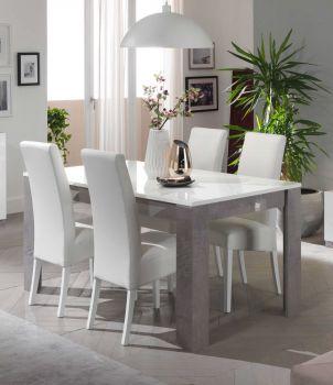 Eettafel Greta 190 cm - beton/wit
