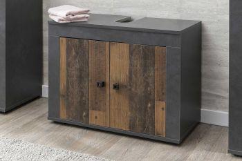 Wastafelonderkast Rutger 2 deuren - hout/grafiet