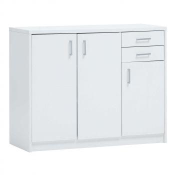 Commode Spacio 84cm 3 deuren/2 laden - wit