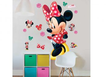 XL muursticker Minnie Mouse