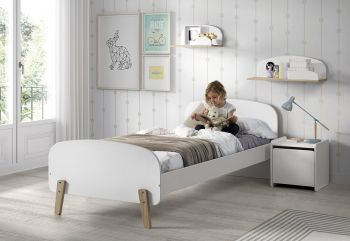 Scandinavisch kinderbed Kiddy wit - 90x200 cm