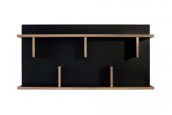 Wandrek Basel 90cm - zwart/multiplex