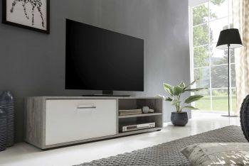 Tv-meubel Sami 1 deur 120cm - wit/beton