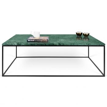 Salontafel Gleam 120x75 - groen marmer/staal