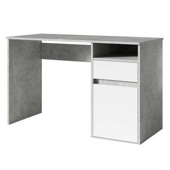 Bureau Soma 120 cm – betonlook/wit