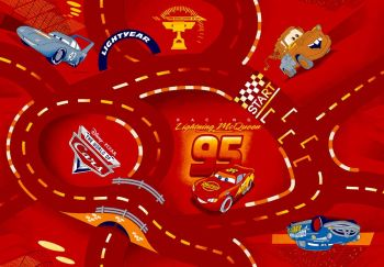 Tapijt Cars - World of Cars red