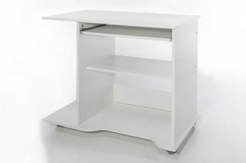 Computertafel op wielen Peter - wit