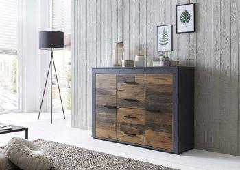 Dressoir Aosta - hout/grafiet