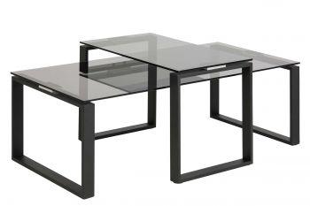 Set van 2 salontafels Nicola - zwart
