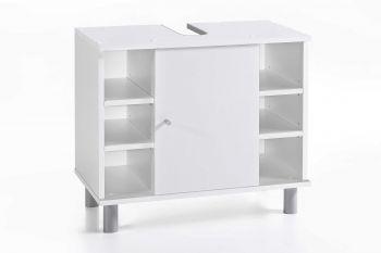 Wastafelonderkast Benja 1 deur & 6 vakken - wit