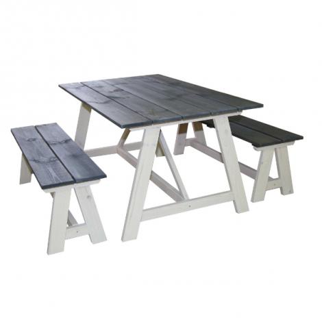 Picknickset Country – wit/donkergrijs
