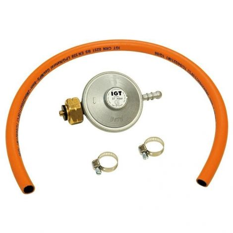 Gasregulator met slang - 37 mbar