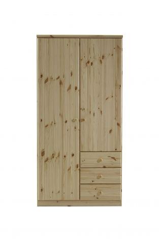 Kledingkast Ragna 100cm met 2 deuren & 3 lades - natuur