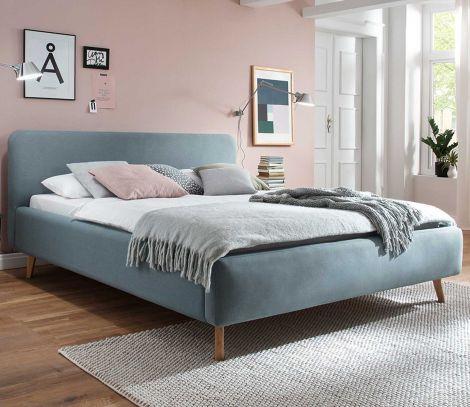 Bed Tony 160x200 - ijsblauw