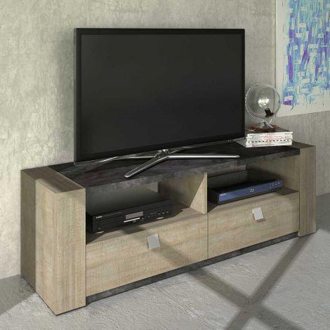 Tv-meubel Iris 155cm - grijze eik