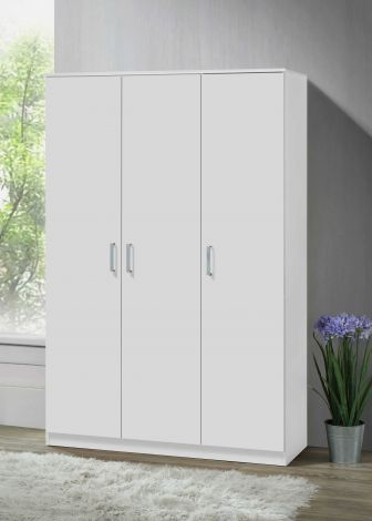 Kledingkast Darcis 120 cm met 3 deuren & 52 cm diep - wit