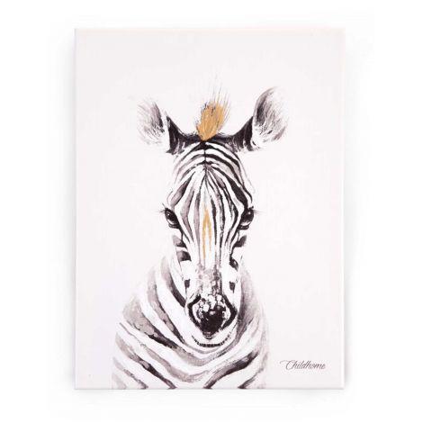 Schilderij zebra 30x40cm