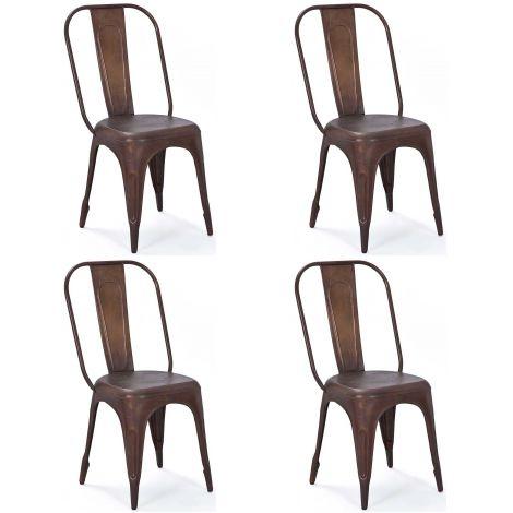 Set van 4 stoelen Aix - roest
