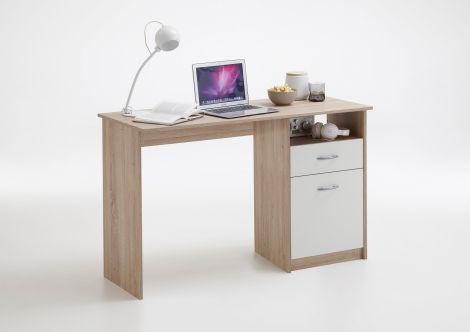 Bureau Jady 123cm - eik/wit