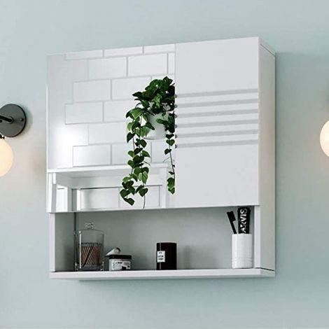 Spiegelkast Bernice 54cm met 2 deuren - wit