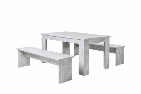 Tafelset Munich 140cm - beton